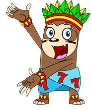 Presenting mascot